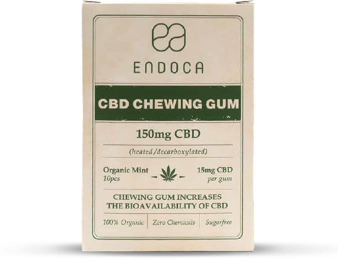 Endoca CBD Chewing Gum 150 mg.