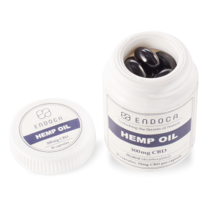 Endoca CBD Hemp Oil Capsules DC 300 mg.