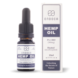 Endoca CBD Hemp Oil Drops 300 mg. (3%) - 10 ml.