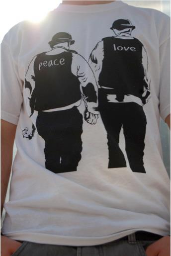 Peace and Love White T-Shirt
